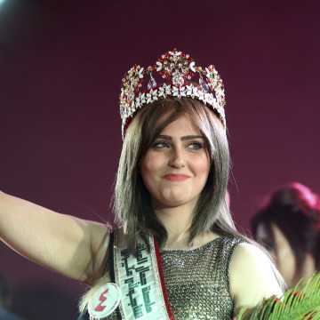 Image: Newly crowned Miss Iraq Shaima Qassim Abdulrahman