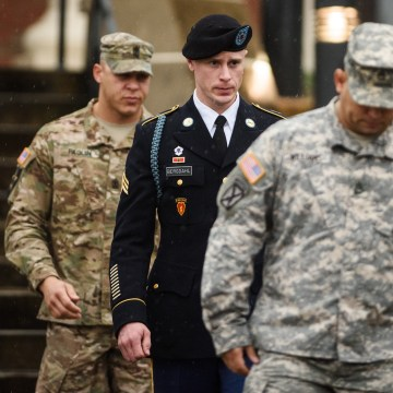 Image: U.S. Army Sgt. Robert Bergdahl leaves the courthouse