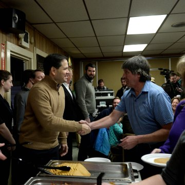 Marco Rubio Attends Pancake Breakfast Campaign Event In NH