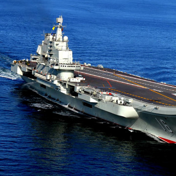 Image: Liaoning, China's first aircraft carrier.