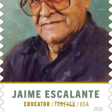 Jaime Escalante postage stamp.