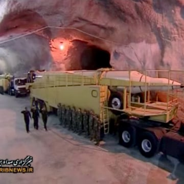 Images of Iran's secret underground base aired on TV