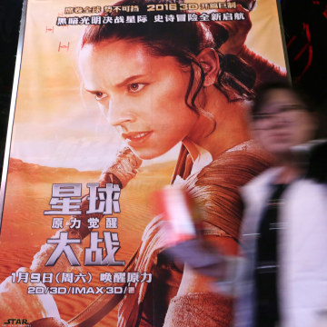Image: New Star Wars movie opens in China