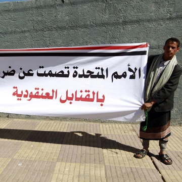 Image: Protesters in Yemen