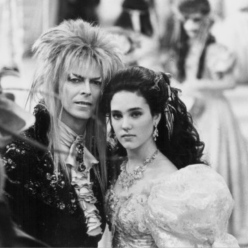Image: Actors David Bowie and Jennifer Connelly