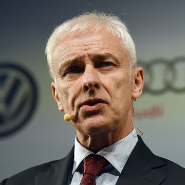 Image: Volkswagen chief executive Matthias Mueller