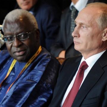 Lamine Diack, Vladimir Putin