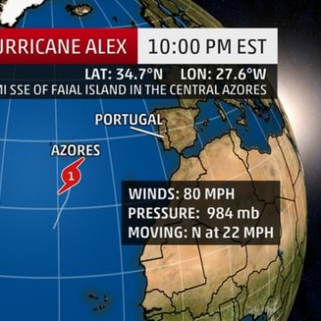 IMAGE: Map of Hurricane Alex
