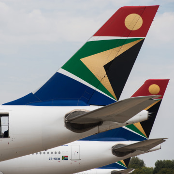South African Airways Acting Chief Executive Officer Nico Bezuidenhout Demonstrates Airliner Catering Stripping Operation