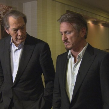 """Image: Sean Penn and """"60 Minutes"""" host Charlie Rose"""