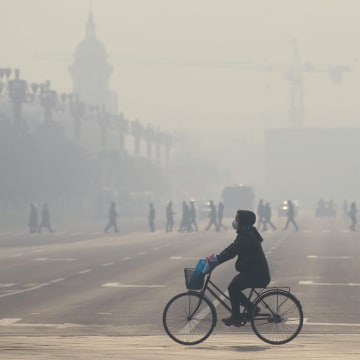 Image: Smog in Beijing on Dec. 21, 2015