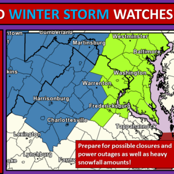 IMAGE: Washington-Baltimore snow forecast map