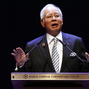 Image: Malaysian PM Najib Razak in 2015