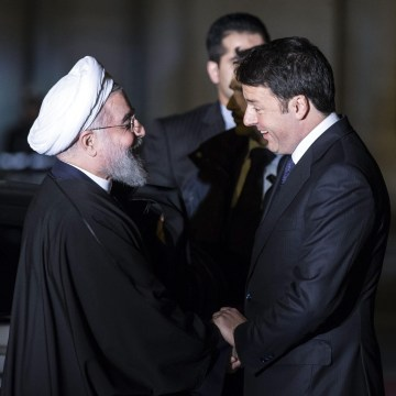 Image: Italian President Rouhani in Italy