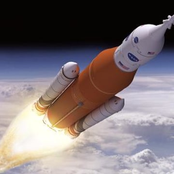 Image: Artist's rendering of Boeing's Space Launch System