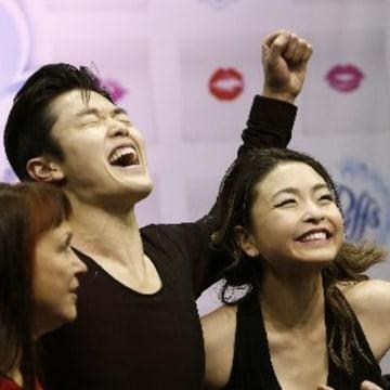 Maia and Alex Shibutani celebration