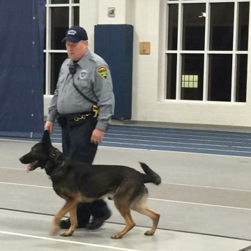 Image: K-9 Ajax and ex-Marietta PD Officer Matthew Hickey