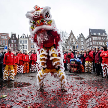 Image: New Year 2016 celebrations by Chinese in Amsterdam