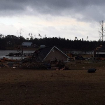 IMAGE: Destroyed home in Collinsville, Mississippi