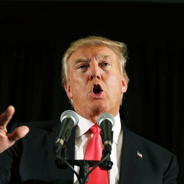 Image: Donald Trump Holds Campaign Rally In NH After Iowa Caucuses