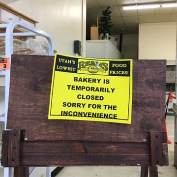 Image: Sign at the bakery