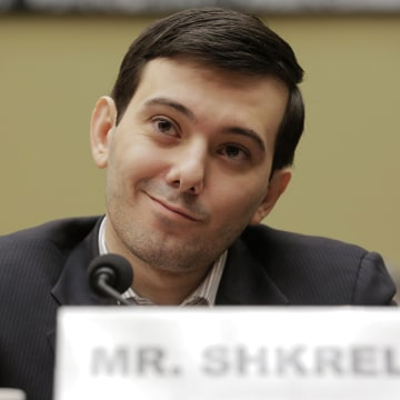 """Image: Martin Shkreli, former CEO of Turing Pharmaceuticals LLC, prepares to testify before a House Oversight and Government Reform hearing on """"Developments in the Prescription Drug Market Oversight"""" on Capitol Hill in Washington"""