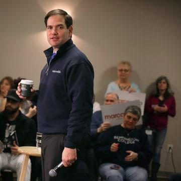 Image: Republican Presidential Candidate Sen. Marco Rubio (R-FL) Campaigns In New Hampshire