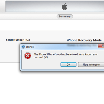Image: Iphone Error