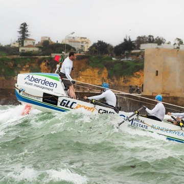 Team Essence practices off the coast of Portugal.