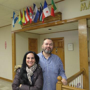 Marta Lucia Rodriguez and her husband Fabian Parra