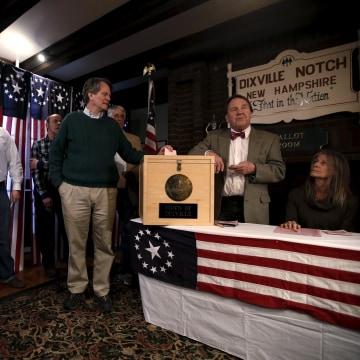 Image: Dixville Notch, New Hampshire voters