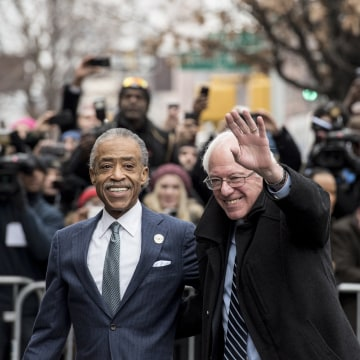 Image: Bernie Sanders Meets With Al Sharpton In New York