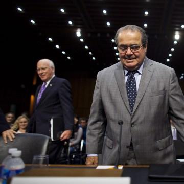 Image: Scalia testifies before a Senate Judiciary Committee