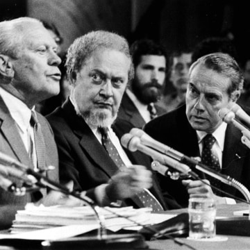 Image: Gerald Ford, Robert Bork 1987 nomination confirmation hearing