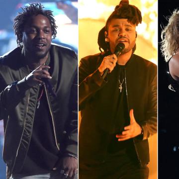 Image: Kendrick Lamar, The Weeknd, Taylor Swift