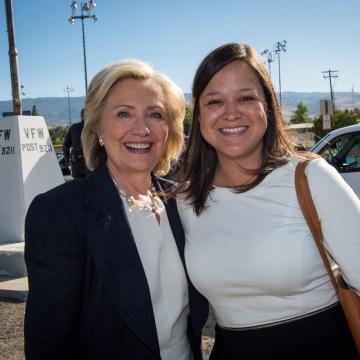 Image: Hillary Clinton and Emmy Ruiz