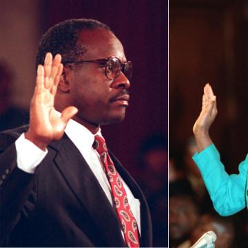 Image: Anita Hill Clarence Thomas testify 1991