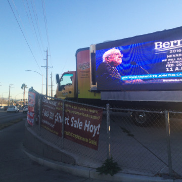 Image:Truck in Nevada Caucus for Bernie