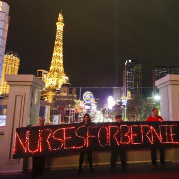 IMAGE: Pro-Bernie Sanders nurses in Las Vegas