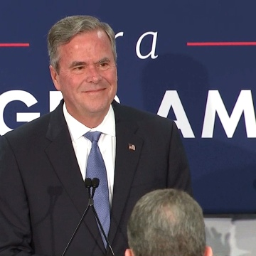 Image: Jeb Bush annouces he is suspending his campaign
