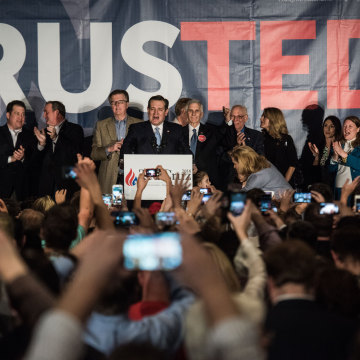 Image: GOP Presidential Candidate Ted Cruz Holds Primary Watch Party In Columbia, SC