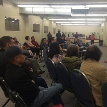 Image: Omar de la Rosa of the Nevada GOP, right,  leads a Hispanic Republican caucus training held Feb. 16, 2016