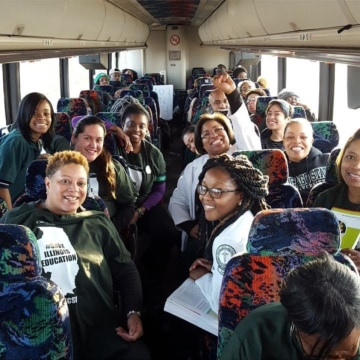 CSU students on bus