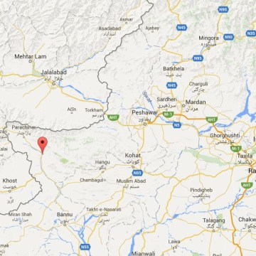 Image: Map showing Sadda, Pakistan