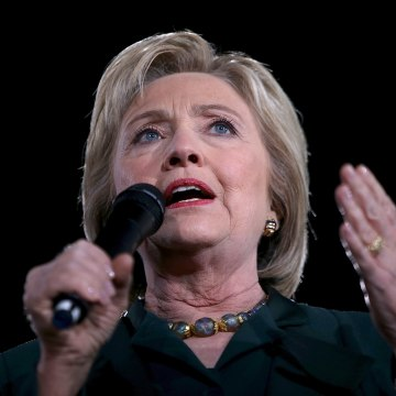 Democratic Presidential Candidate Hillary Clinton Campaigns In Las Vegas