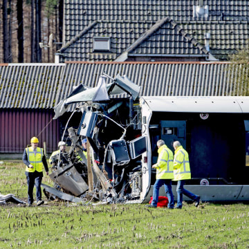 Image: TRAIN-ACCIDENT-NETHERLANDS-RAIL