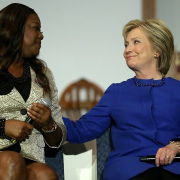 Image: Hillary Clinton Meets With Mothers  Who Lost Children To Gun Violence