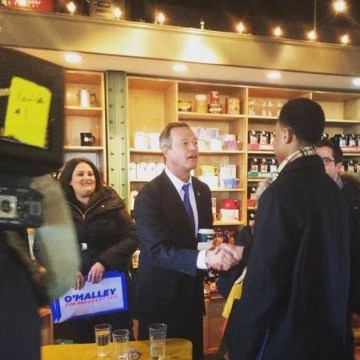 """Chase the Race"" reporter Charles Graham interviews former Maryland Gov. Martin O'Malley in Iowa"