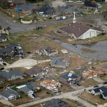 IMAGE: Tornado damage in LaPlace, Louisiana