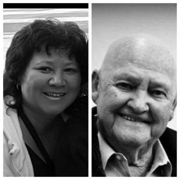 Sarah Savidakis, left, and her biological father Virgil Crawford, who passed away in April 2014.